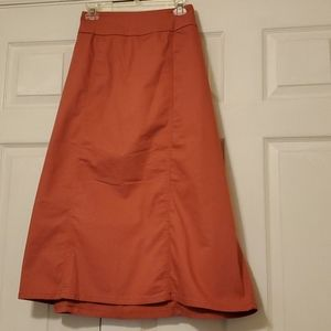 WOMAN WITHIN MIDI SKIRT W/ELASTIC INSETS